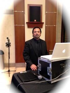 Clif DJ'ing a wedding in Laguna Hills