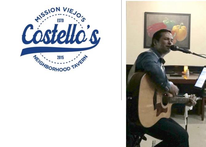 Costello's MV – Solo – Thursday Dec 22nd 6:30 – 9:30 pm