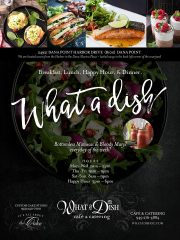 WhataDish Cafe – Dana Point Harbor Fathers Day Sunday June 18th  11 -2:30 pm
