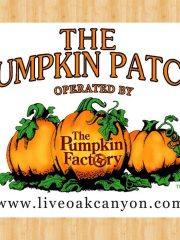 Live Oak Canyon Pumpkin Patch – Redlands Tuesday October 24th 5:30-8:30 pm